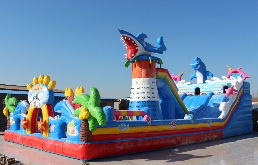 新款海洋世界充气大滑梯充气城堡儿童充气乐园