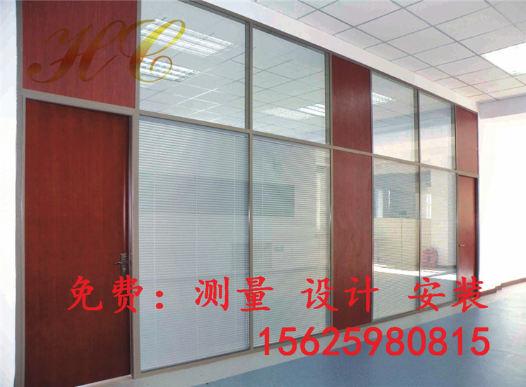 供应84款100款玻璃隔断墙办公室家具屏风隔断百叶