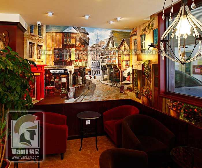 餐厅墙绘工作室,餐厅墙画公司,广州墙体彩绘