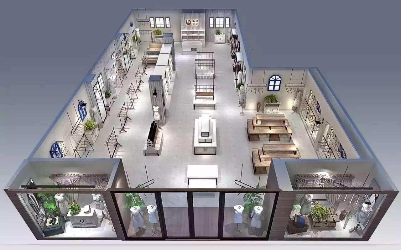 内部结构:五金配件与木结构完美结合,展柜内部的电路布线会按商场验收