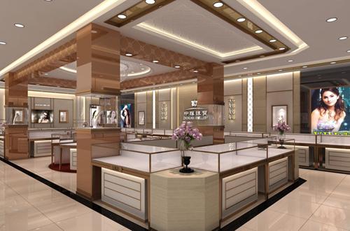 天津商场店面店铺设计 柜台展台展柜设计效果图