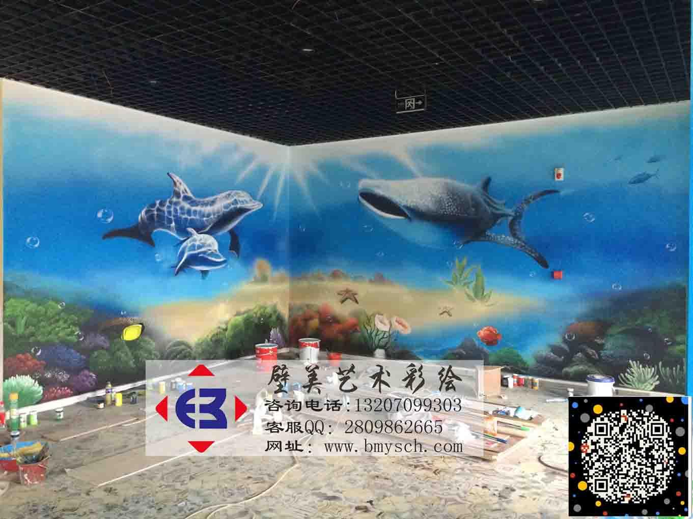 南昌酒店餐厅主题壁画彩绘