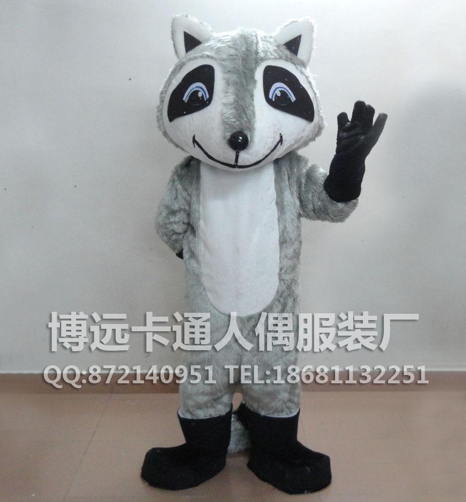 供应卡通人偶动物模型表演服装舞台服装灰色狐狸