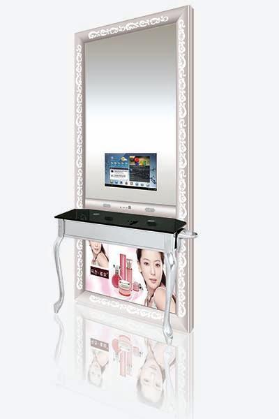 智能美容美发镜台广告机镜面电视_深圳市奥振电子科技图片