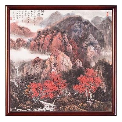 太行山水色彩风景临摹