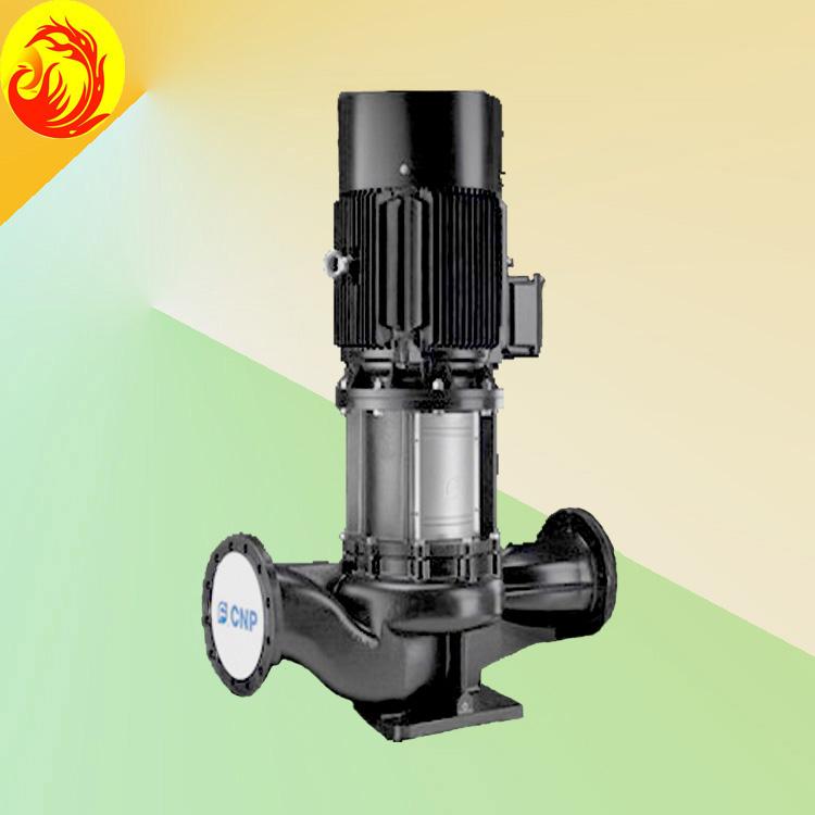 产品特点: 单级立式管道循环泵,泵进出水口在泵底同一直线上,产品设计为顶部可拉出的拆装形式,其可以在不影响管路系统的情况下对泵进行维修。 性能及优点:结构紧凑、维护方便、噪音低、可选配铸铁或不锈钢叶轮 应用范围:工业系统、供水系统、冷却和空调系统、系统增压 产品参数: 流 量:4m3/h~1200m3/h 扬 程:4.