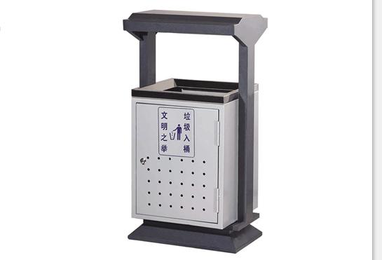 整体都用优质镀锌钢板,经折弯冲压一次性成型。产品一律用室外粉静电喷塑,经过180的高温,*大限度延长了垃圾桶的使用寿命,使垃圾桶颜色持久不变,亮丽如新。表面经除油加清洗然后酸洗接着清洗、表调、磷化、清洗、烘干、静电粉末喷涂、高温塑化、冷却。喷涂粉末经ISO9002质量体系认证,易保洁表面光滑之优点,不脱落,不起层。