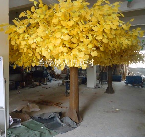 仿真胡杨树制作批发厂家 室内外仿真胡杨树叶价格 大型假椰树仿真植物