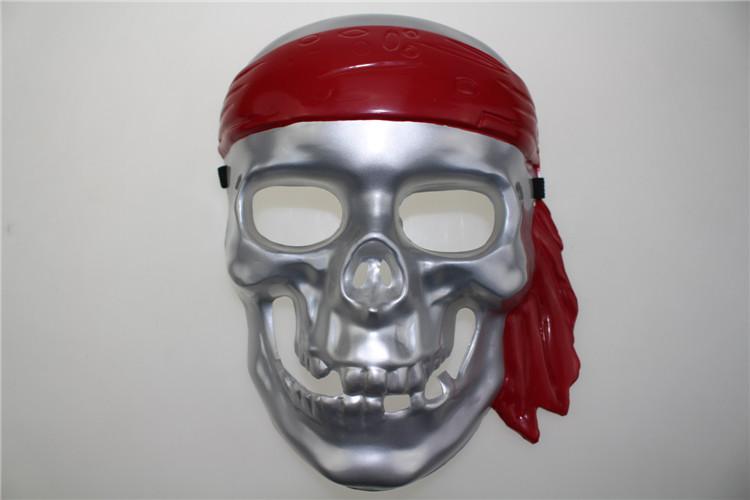 供应海盗儿童吸塑面具万圣节海盗面具儿童面具表演道具
