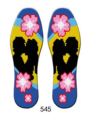 保健型十字绣鞋垫图案大全