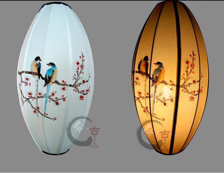 创意中式吊灯 买优质新中式布艺手绘吊灯,就选宾克斯图片