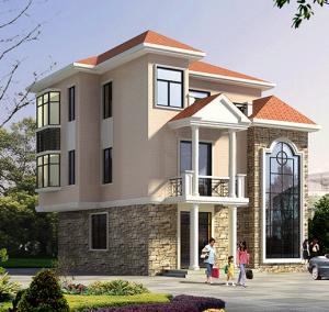 造价20万左右的三层农村高档房屋带露台设计图