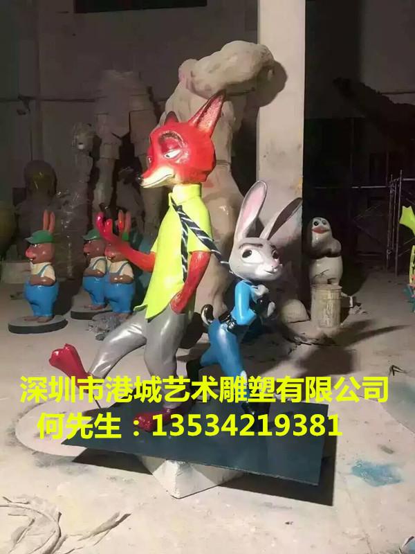 动物城狐尼克狐狸模型警察局局长非洲水牛卡通系列
