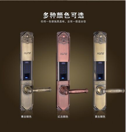 """与欧式古典新奢华风格相结合的""""918-69/9003古典系列"""" 指纹锁尤为突出"""