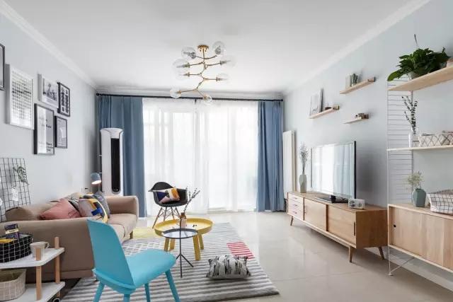 【拓者 · 家装案例】温馨的色调-120㎡北欧清简温馨设计图片