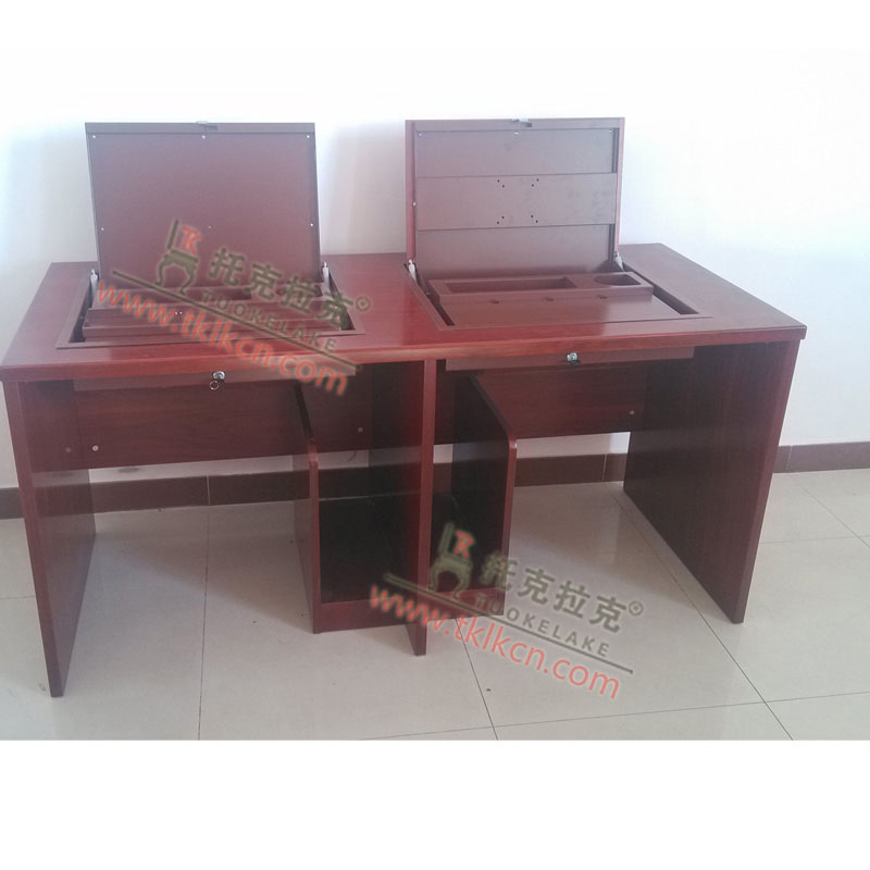 厂家直销 学校机房电脑桌 学生机房电脑桌 翻盖电脑桌