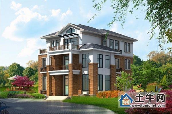 供应v1012农村三层带阁楼自建别墅设计图