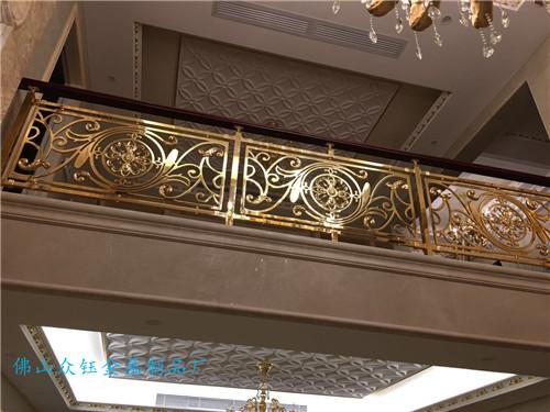 铝雕扶手 铝艺欧式镂空雕花楼梯护栏供应商