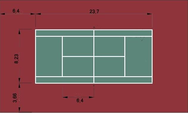 网球场标准_标准网球场尺寸让你真正成为一个网球全知高