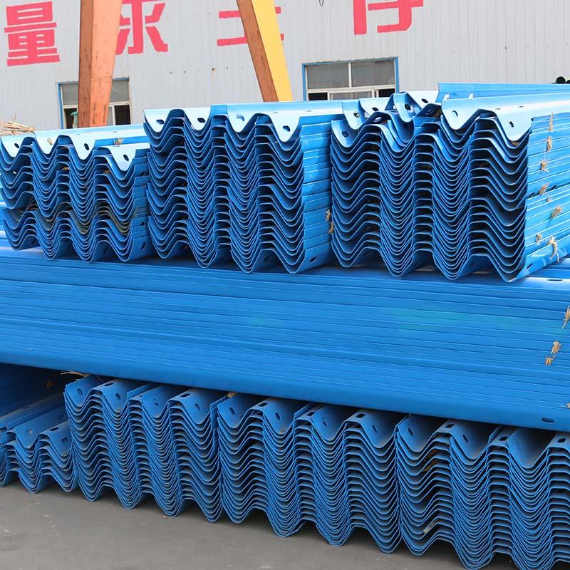 供应波形护栏板高速公路喷塑镀锌护栏板