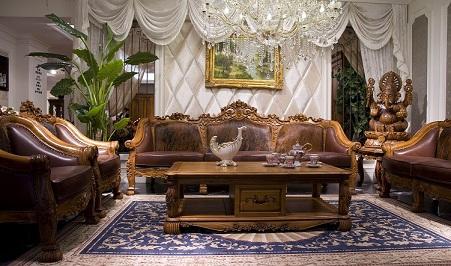 实木沙发,别墅家具图片