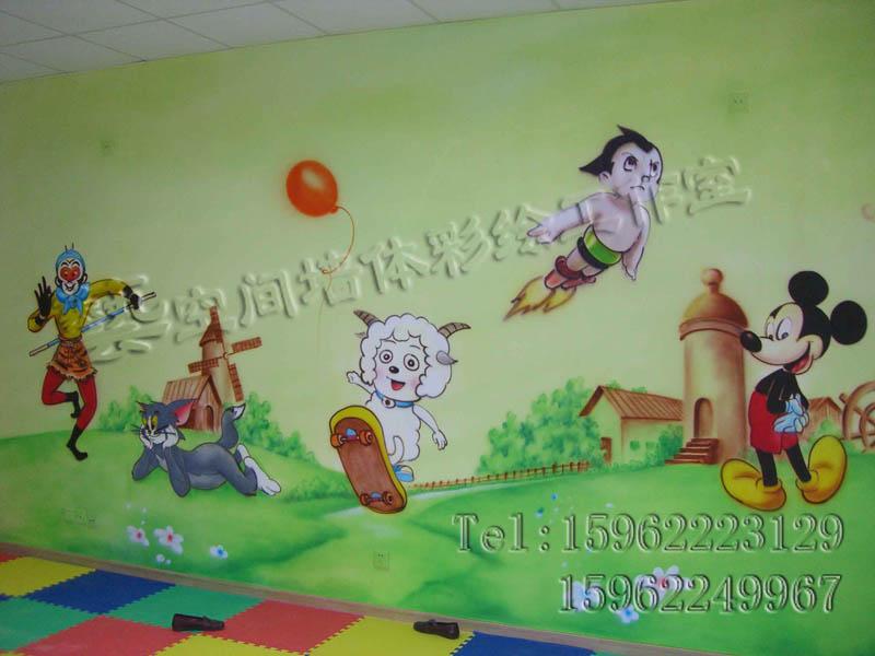 苏州幼儿园喷画,幼儿园楼梯喷画,幼儿园外墙装饰,环保