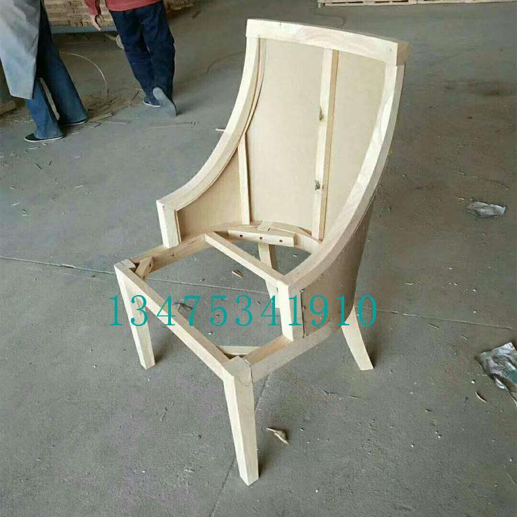 供应实木桌椅白茬欧式大软包餐椅白茬酒店室内会场餐椅靠背椅白茬