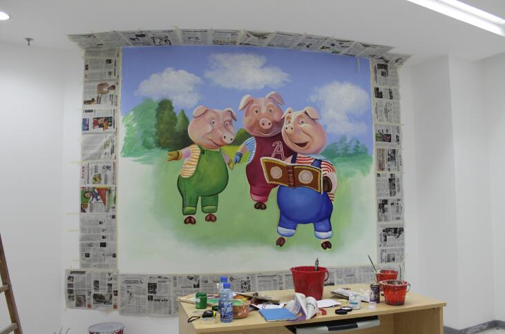 镇江喷绘 镇江幼儿园设计 镇江墙体喷绘 镇江墙面喷图图片