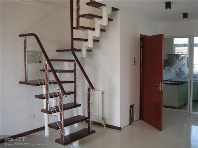 青岛楼梯实木楼梯钢木楼梯钢结构楼梯钢木结构楼梯