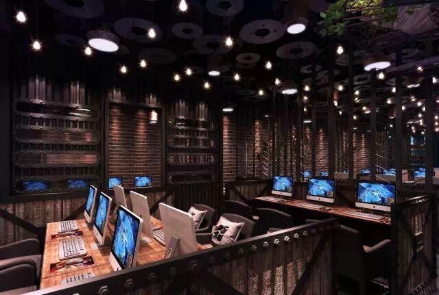 成都网咖装修,高端工业风格网咖设计公司推荐