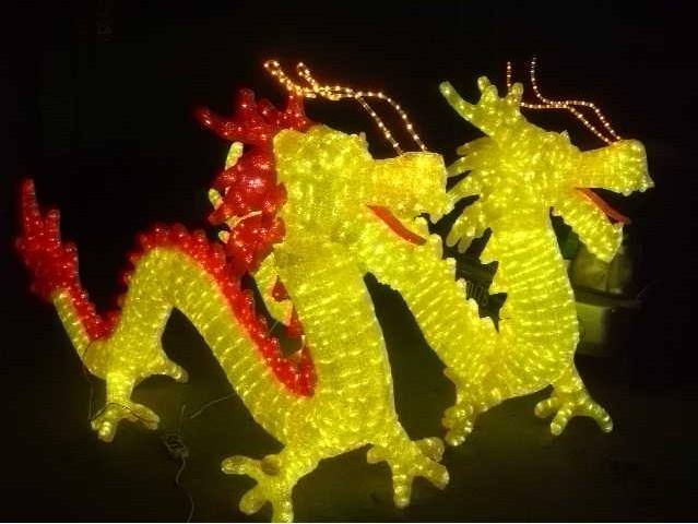 厂家直销led造型灯-滴胶造型灯-艺术灯-动物灯-圣诞灯-双龙灯