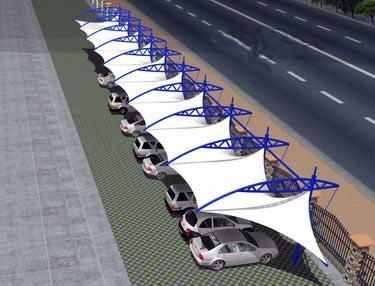 河南膜结构舞台 云南景观张拉膜 襄阳膜结构车棚