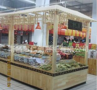 供应木质商场展柜酱菜柜图片