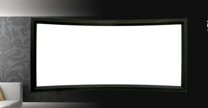 sceneking视开150寸纳米高清平面/弧形画框投影幕图片