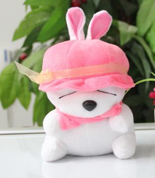 供应可爱流氓兔公仔广东毛绒玩具厂家