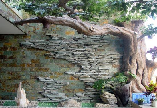 深圳专业做仿真假树,假榕树,柱子装饰成假树,仿木,塑石等,作品形象生