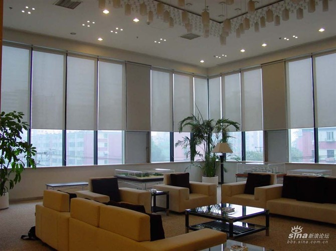 办公室窗帘电动窗帘遮阳窗帘定做遮光窗帘酒店宾馆窗帘布艺窗帘图片