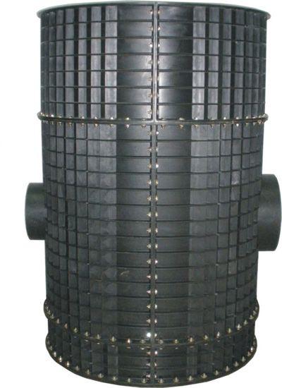 采用分体组装结构,井筒可现场切割,调整,适应各种安装深度要求,有效