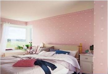 欧式卧室粉色乳胶漆效果图