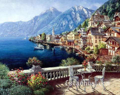 现代风景油画,欧美风景油画,俄罗斯风景油画,荷兰风景油画,地中海风景