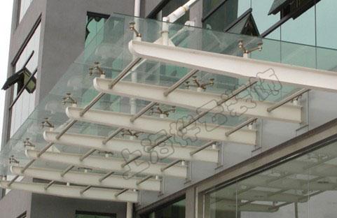 供应上海钢结构玻璃雨棚