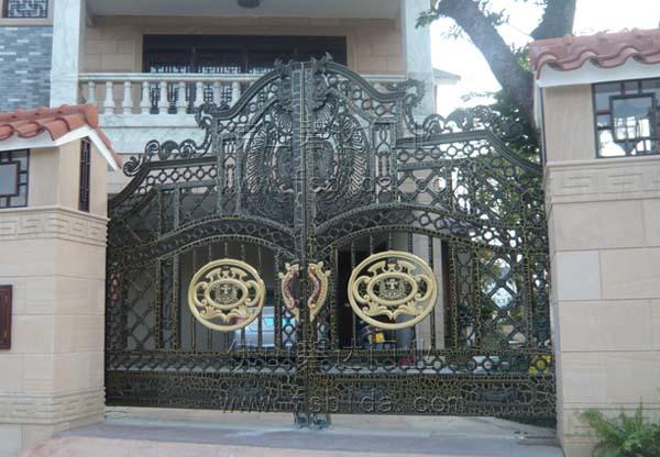 ③欧式合金庭院门全部采用合金材料铸雕制作