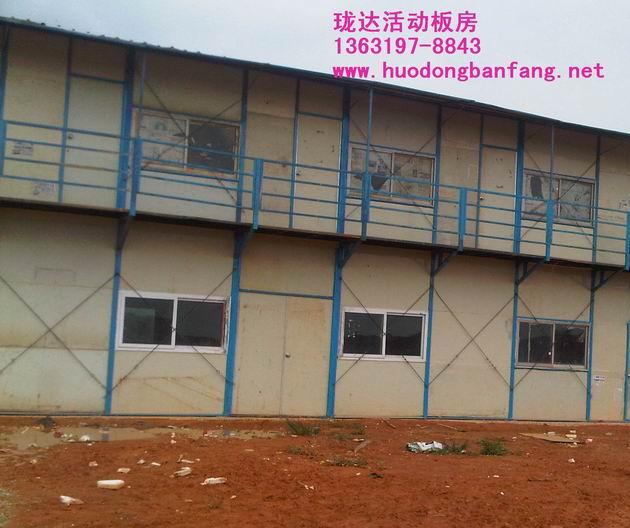 二手雅致活动板房   河源珑达建材有限公司    广东河源钢结构厂房 钢