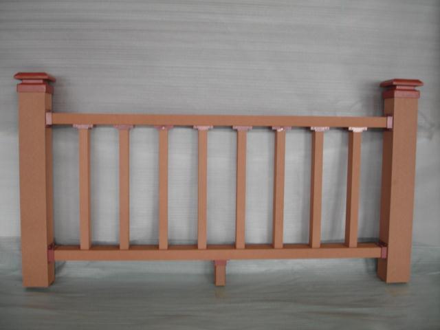 供应公园塑木栏杆,江边护栏材料