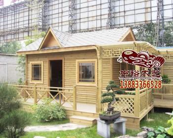 重庆园林古建01木制品花车水车花架木屋木房子木别墅厂家
