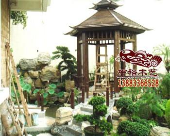 中式建筑钢结构廊架