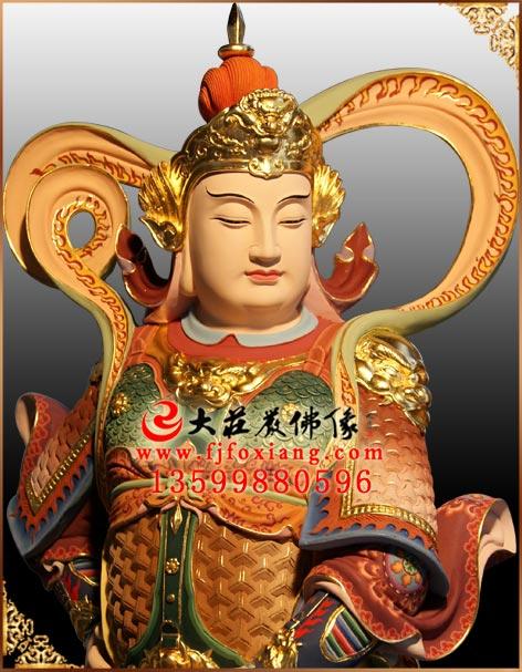 韦陀菩萨,脱胎佛像厂家,木雕