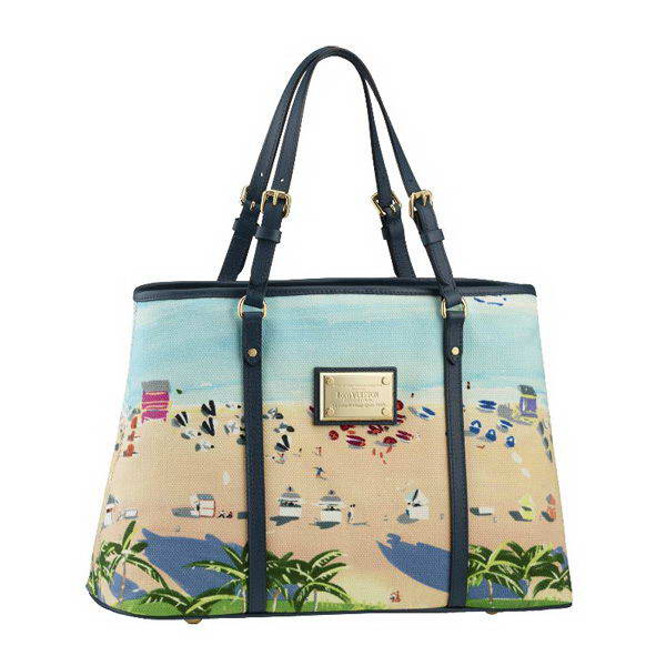 m93769 lv 新款时尚水彩画图女士单肩沙滩包