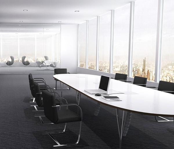雅帝家具公司精心设计的会议室,办公桌和办公椅是考虑的首要因素图片