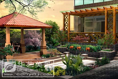 成都园林景观工程施工,水景花园,假山工程,花架亭廊,灯光设计,阳光房